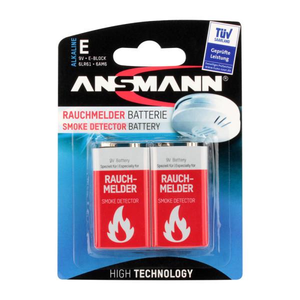 Ansmann Batterien Rauchmelder E-Block / 6LR61 / 9V-Block 1515-0006