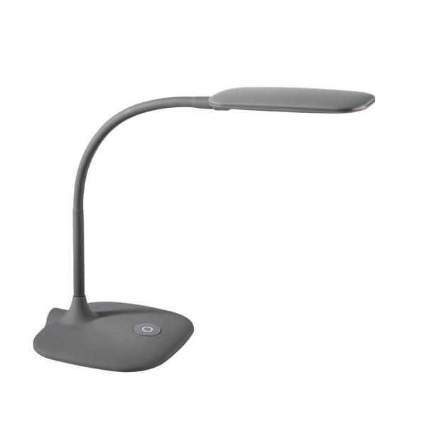 Alco Schreibtischlampe 9082-29, LED, dimmbar, mit Standfuss, grau