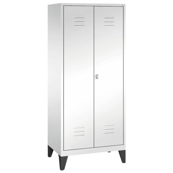 CP Putzmittelschrank 8110-02, Stahl abschließbar, 185 x 81 x 50 cm, weiß