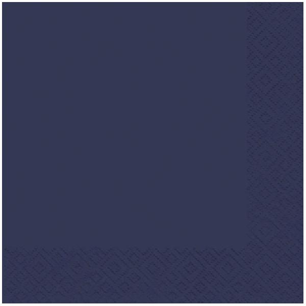 ATELIER Servietten 1005 33x33cm dunkelblau 3-lagig 1/4-Falz 20 Stück