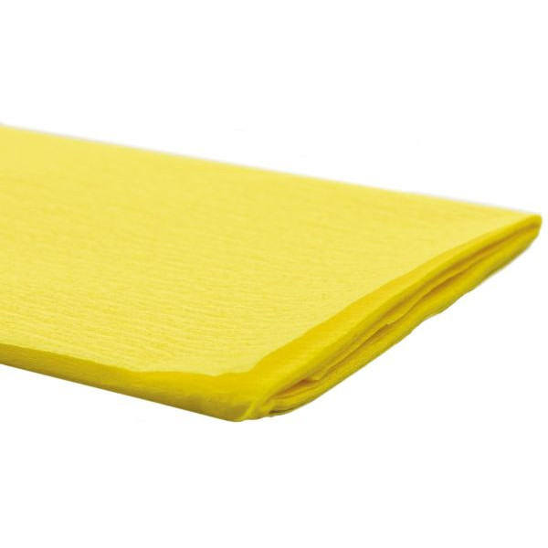 Werola Feinkrepppapier 50cmx2,5m Krepppapier gelb