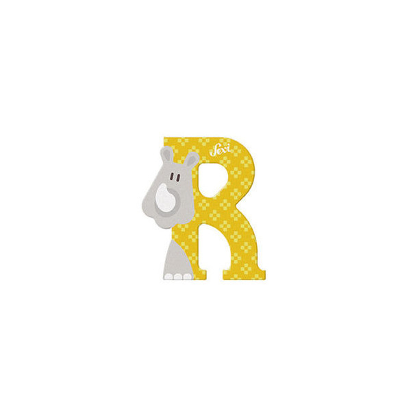 TRUDI Tier-Buchstaben 10cm Rhinozeros R