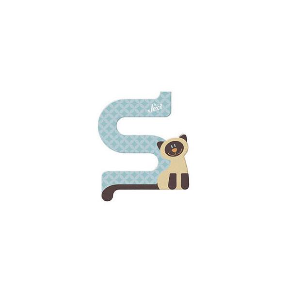 TRUDI Tier-Buchstaben 10cm Siamkatze S