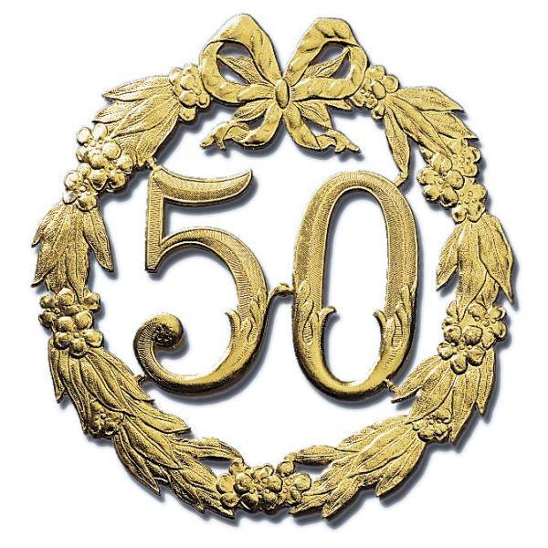 Demmler Demmler 1234500192 Jubiläumszahl 50 gold 24cm