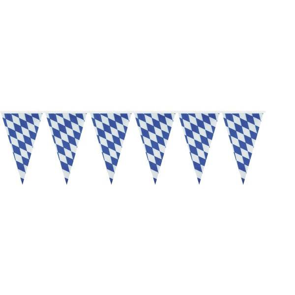 amscan Wimpelkette Bayern Raute 4m weiß/blau wetterfest