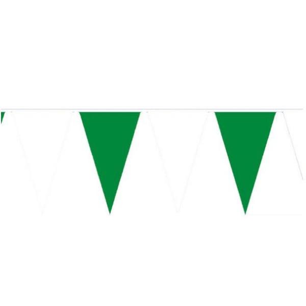 amscan Wimpelkette 4m grün/weiß wetterfest