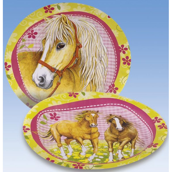 amscan Teller Pferde Ø 23cm Pappe 8 Stück