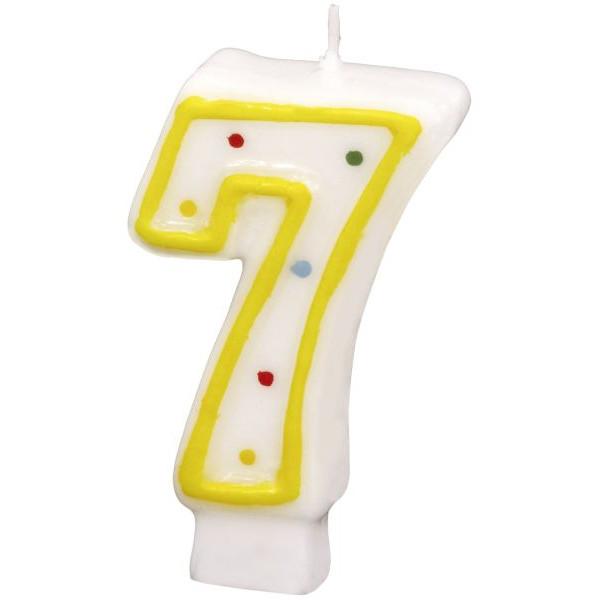 amscan Geburtstagskerze Zahl 7 gelb