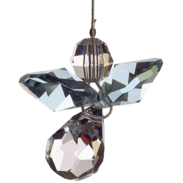 HCA 5080aq Swarovski-Kristall Schutzengel klein Aquamarin