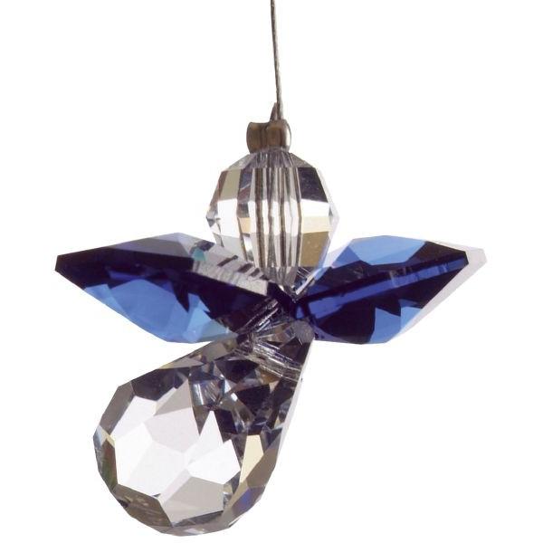 HCA 5080dsa Swarovski-Kristall Schutzengel klein dunkler Saphir