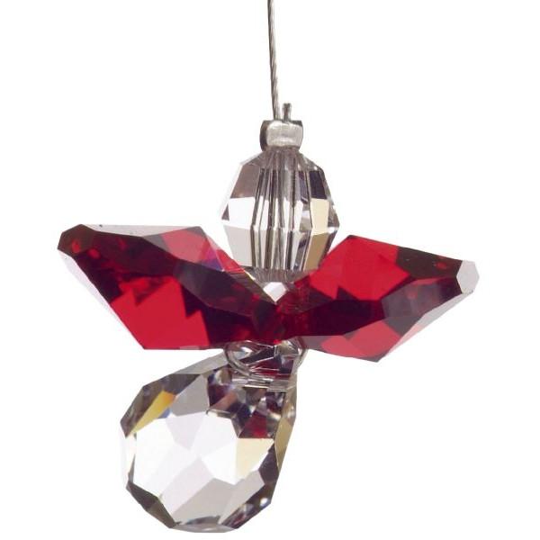 HCA 5080gt Swarovski-Kristall Schutzengel klein Granat