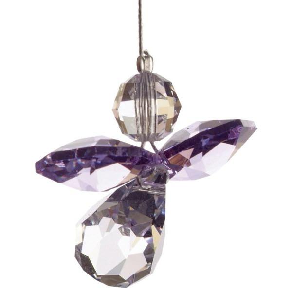 HCA 5080la Swarovski-Kristall Schutzengel klein Heller Amethyst