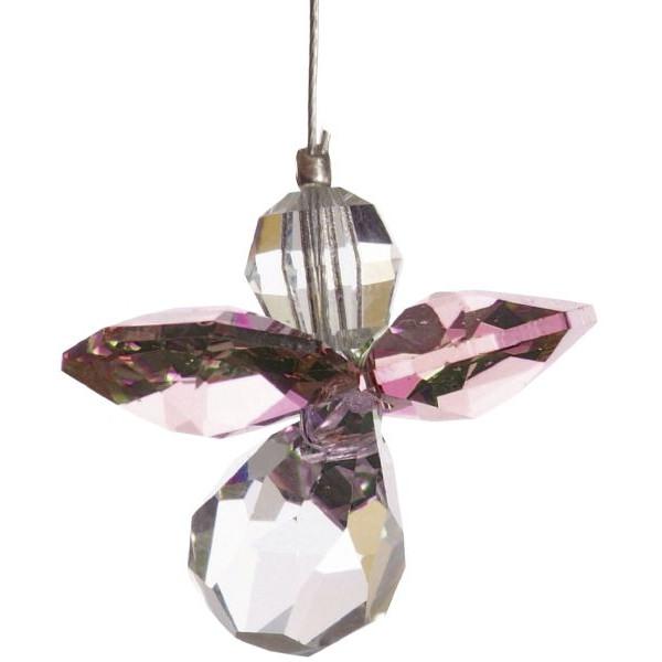 HCA 5080ros Swarovski-Kristall Schutzengel klein Rosenquarz