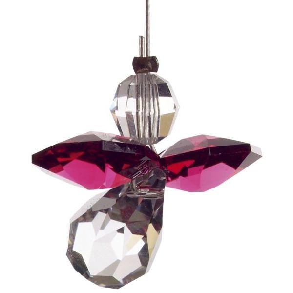 HCA 5080ry Swarovski-Kristall Schutzengel klein Rubin
