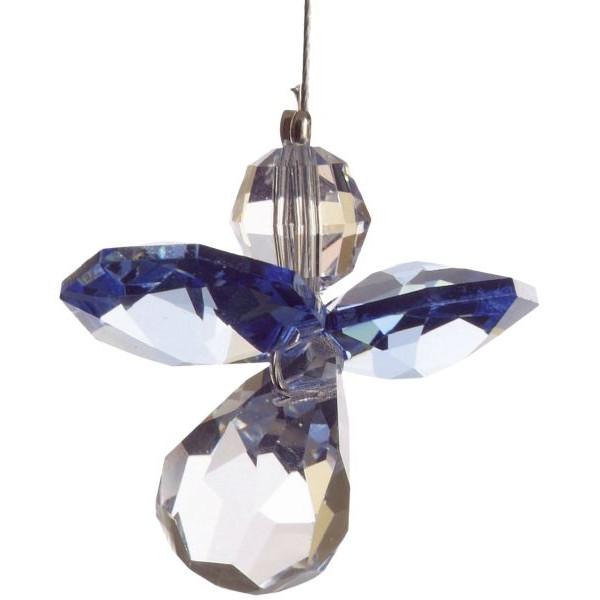 HCA 5080sap Swarovski-Kristall Schutzengel klein Saphir