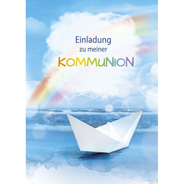 Einladung Kommunion - 5 Stück, inkl. Umschlag