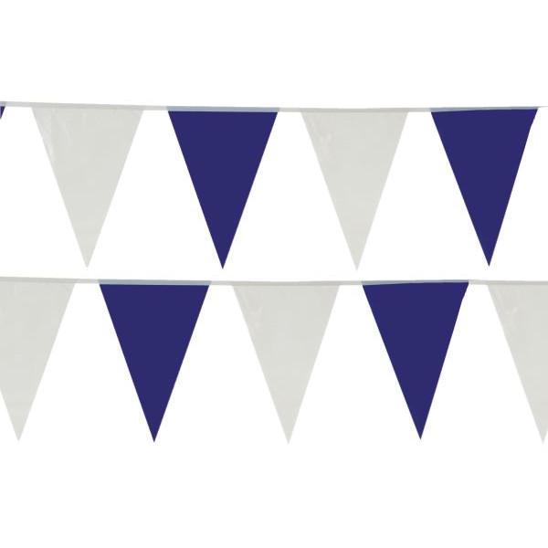 14416 30Flaggen 10m Wimpelkette blau/weiß