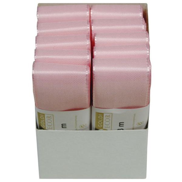 GOLDINA Geschenkband Taftband 40mm x 3m rosa