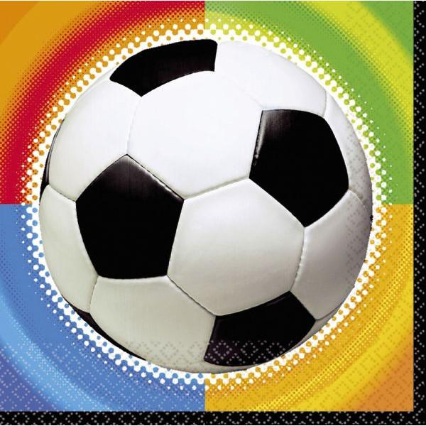 amscan Motivservietten Fussball 33x33cm bunt 16 Stück