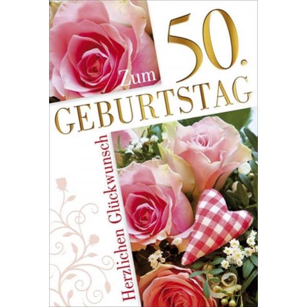 55-900250 Bild Geburtstagskarte Zahl 50