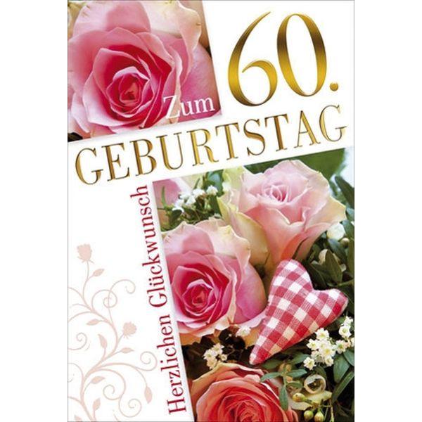 55-900260 Bild Geburtstagskarte Zahl 60