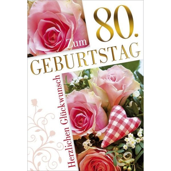 55-900280 Bild Geburtstagskarte Zahl 80