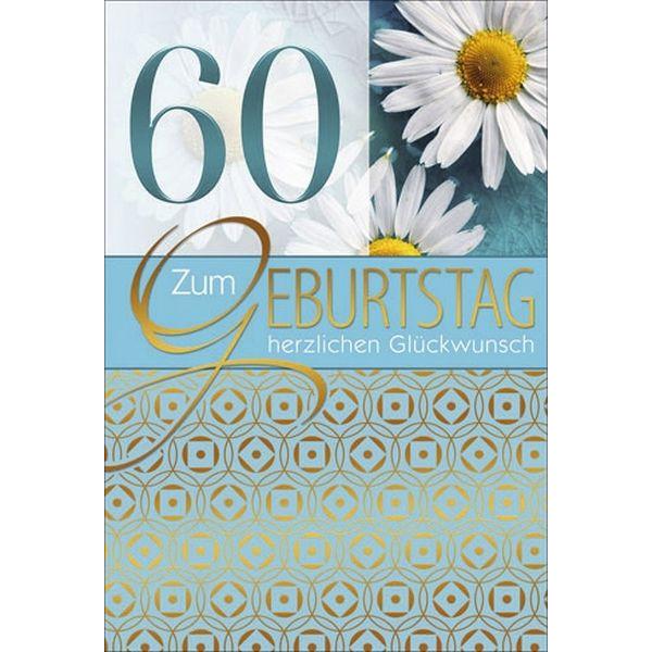 55-901060 Bild Geburtstagskarte Zahl 60