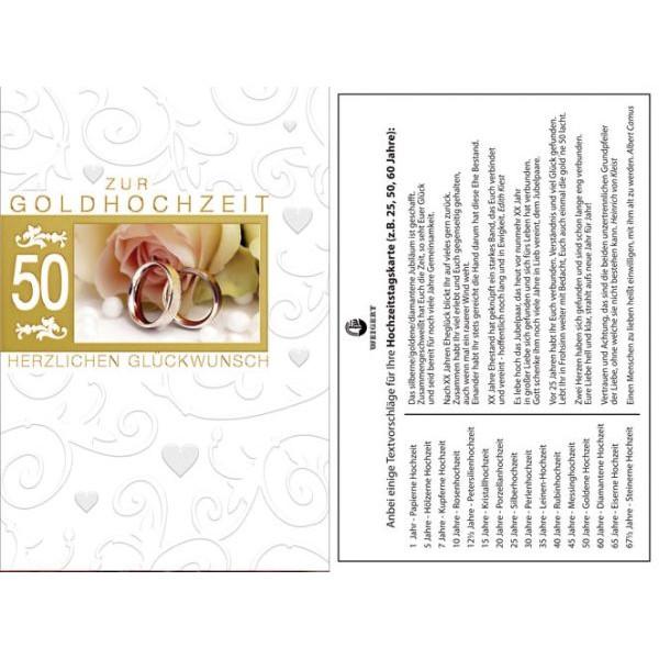 72-202900 Bild Goldhochzeitskarte