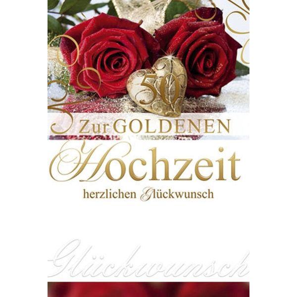 72-211900 Bild Goldhochzeitskarte