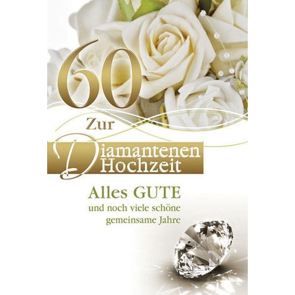 73-509100 Bild Diamantene Hochzeitskarte