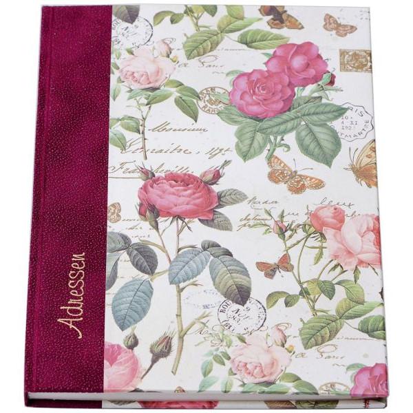 01203 15x21,5cm Adress-Telefonbuch Rosen