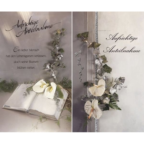 Trauerkarte - inkl. Umschlag, sortiert