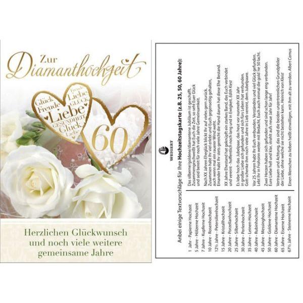 Diamantene Hochzeitskarte - inkl. Umschlag