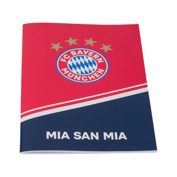FC Bayern Hausaufgabenheft Mia San Mia A5 rot/navy 21526