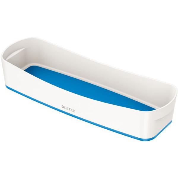 Leitz Aufbewahrungsschale MyBox - länglich, ABS, weiß/blau