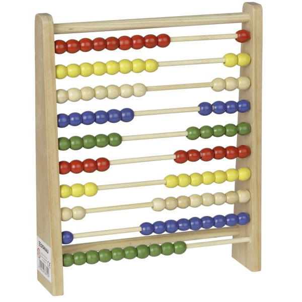 DONAU Zählrahmen Holz - 100 Holzperlen