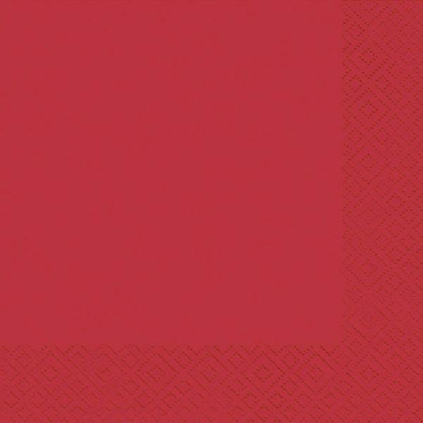 Atelier Servietten 1009 24x24cm rot 3-lagig 1/4-Falz 20 Stück