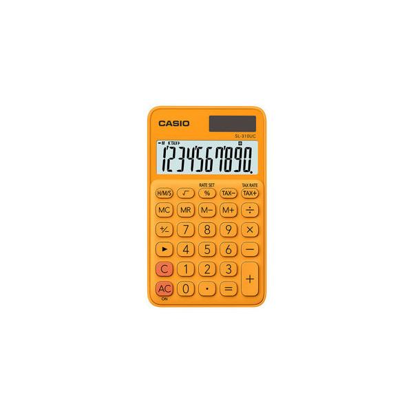 Casio Taschenrechner SL-310 Solar-/Batterie LCD-Display orange 1-zeilig 10-stellig