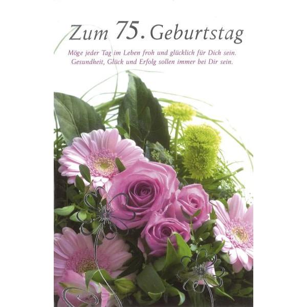 Geburtstagskarte - Zahl 75, inkl. Umschlag