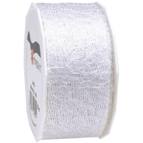PRÄSENT Geschenkband Zierband 40mm x 20m weiß