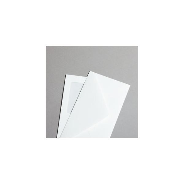 Mayspies Opaline Leinen Din Lang mit Fenster haftklebend 110g weiss 250 Stück