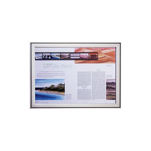 magnetoplan Plakat-Klapprahmen CC silber A0 mit Antireflexfolie