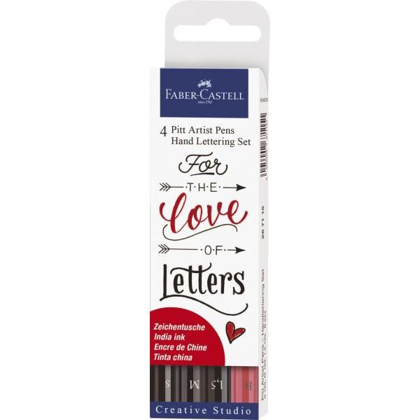Faber-Castell Tuschestift PITT® ARTIST PEN - 4er Etui Lettering