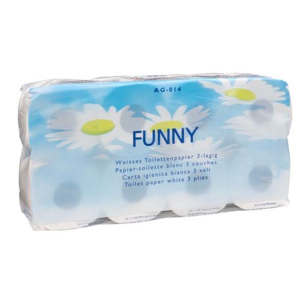 Plock Toilettenpapier Funny 3-lagig 8 Rollen