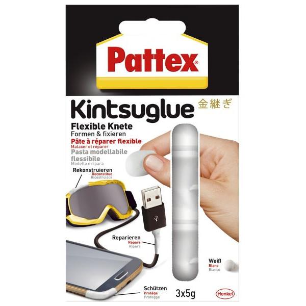 Pattex Kintsuglue flexible Klebeknete - 3x 5 g, weiss