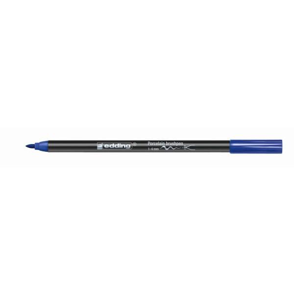 Edding 4200 Porzellan-Pinselstift - blau, 1 - 4 mm