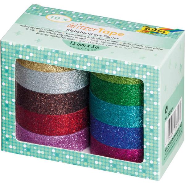 Folia Klebeband Glitter - 10er-Set