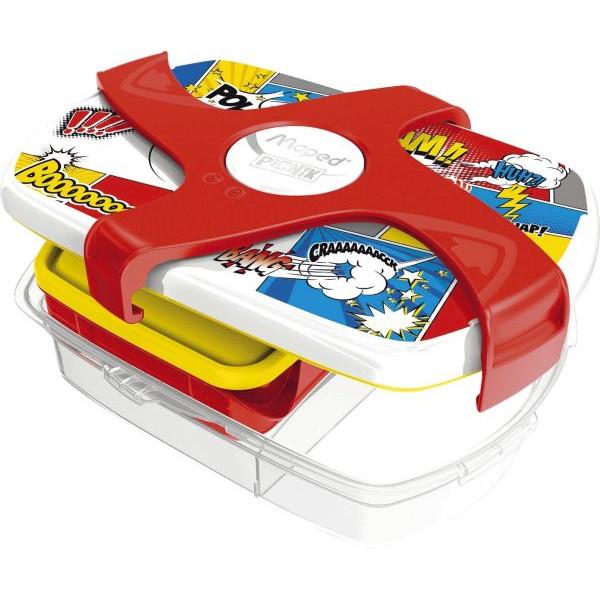 Maped Brotbox Kids CONCEPT Comics - bunt, 253 x 80 x 188 mm