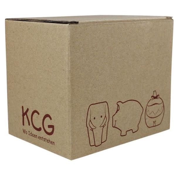 KCG Geschenkverpackung Karton braun für Kleinschweine