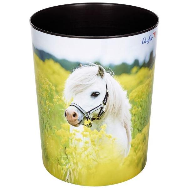 Läufer Papierkorb - 13 L, Pferd im Rapsfeld